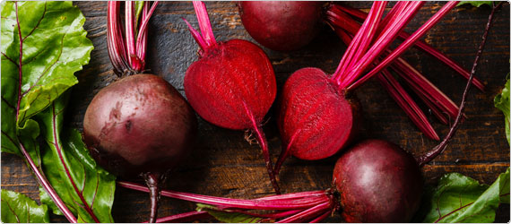 The background on beetroot