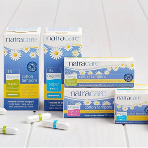 Natracare tampons and pads