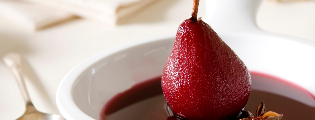 Chai poached pears recipe
